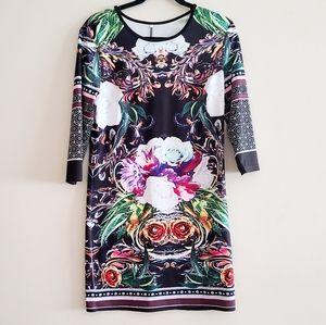 ☀️ 3/$15 Colorful Floral Dress Size L